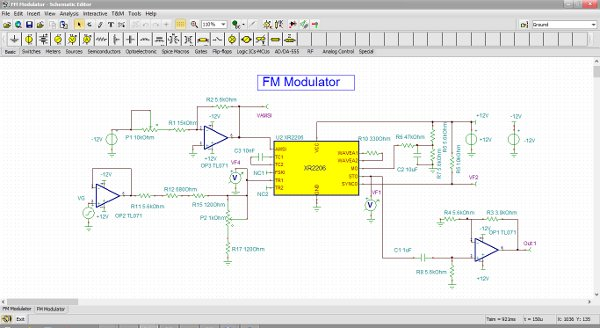 Schematic Editor in TINA